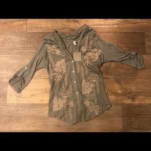 Tiny Anthropologie Embroidered Blouse